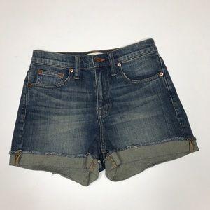 madewell denim high rise jean cut off shorts NWOT